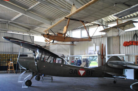 A Cessna L-19 Bird Dog displayed at the Austrian Aviation Museum in Graz-Thalerhof.