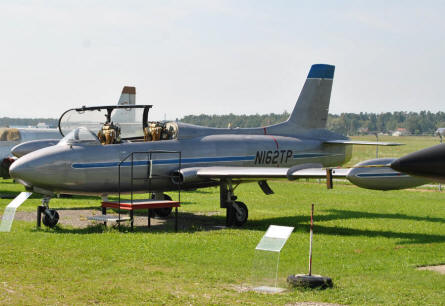 An Atlas/Aermacchi MB-326M Impala displayed at the Austrian Aviation Museum in Graz-Thalerhof.