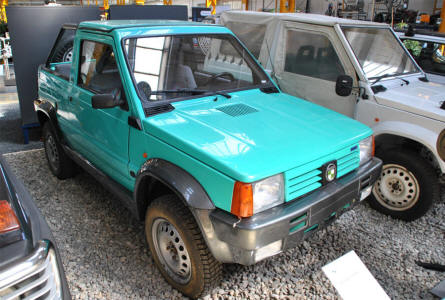 A 1991 Puch 4x4 prototype - based on the Fiat Panda -  displayed at the Johann Puch Museum in Graz.