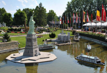 The Statue of Liberty (USA) displayed at the Minimundus miniature park in Klagenfurt.