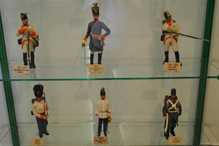 Miniature soldiers displayed as a part of the military and World War I exhibition at the Fortress Hohensalzburg in Salzburg.