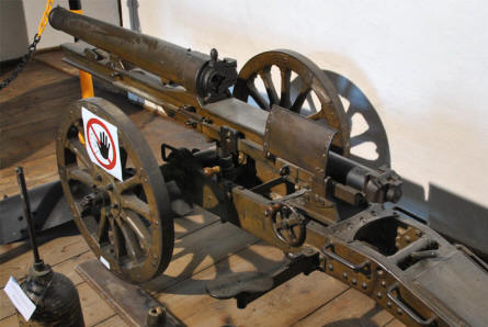 A World War I canon displayed at the Fortress Hohensalzburg in Salzburg.