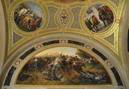 The Museum of Military History in Vienna is located in a historical building which in itself has a lot of interesting things to see - like these ceiling paintings.