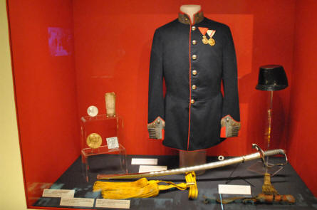 One of the many vintage uniforms displayed at the Museum of Military History in Vienna.