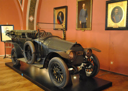 The car in which the Crown Prince Ferdinand was assassinate in Sarajevo in 1914 is displayed at the Museum of Military History in Vienna. This assassination started World War I.