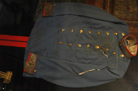 The uniform in which the Crown Prince Ferdinand was assassinate in Sarajevo in 1914 is displayed at the Museum of Military History in Vienna. This assassination started World War I.