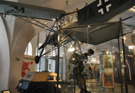 A section of the World War II exhibition at the Museum of Military History in Vienna.