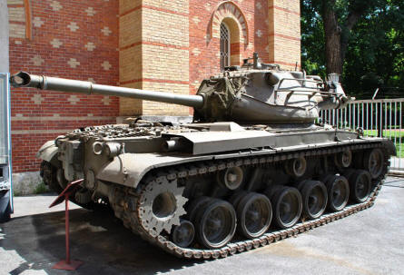 An American built M-48 Patton tank displayed at the Museum of Military History in Vienna.