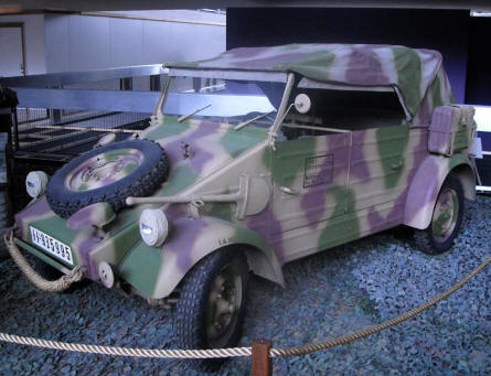 "A German World War II ""Küblewagen"" displayed at the Royal Armed Forces Museum in Brussels."