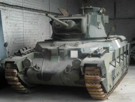 One of the many World War II tanks displayed at the Royal Armed Forces Museum in Brussels.