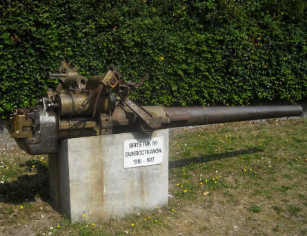 A British World War I canon at the Raversijde Domain (Atlantic Wall museum) at Oostende.