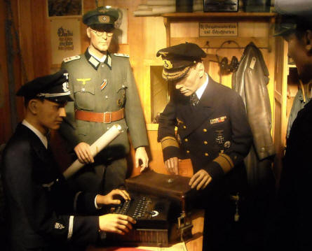 German World War II soldiers displayed at the Raversijde Domain (Atlantic Wall museum) at Oostende.