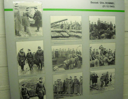 World War II pictures showing the visit of Field marshal Ervin Rommel at the Raversijde Domain at Oostende in 1943.