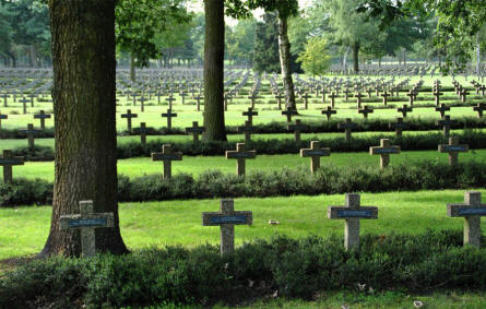 A section of the Lommel German War Cemetery.