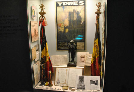 World War I memorabilia displayed at the In Flanders Fields Museum in Ypres.