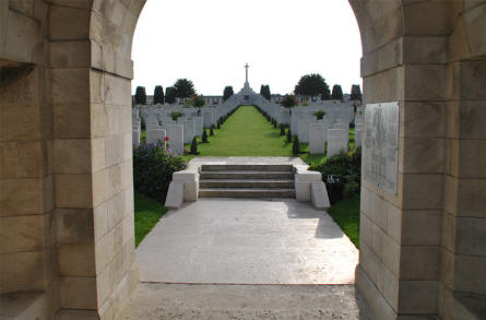 A view from the of the Tyne Cot War Cemetery near Zonnebeke.