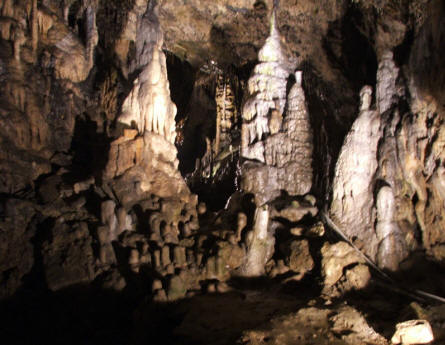 Some of the many strange stone formations inside the caves at Domaine des Grottes de Han - Han-Sur-Lesse.