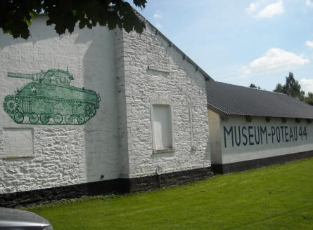 The Museum Poteau '44 Ardennes is very easy to spot from the road.