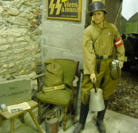 A young German World War II soldiers displayed at the Museum Poteau '44 Ardennes.