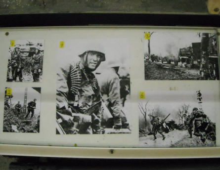 Some of the famous German World War II pictures shot near the Museum Poteau '44 Ardennes.