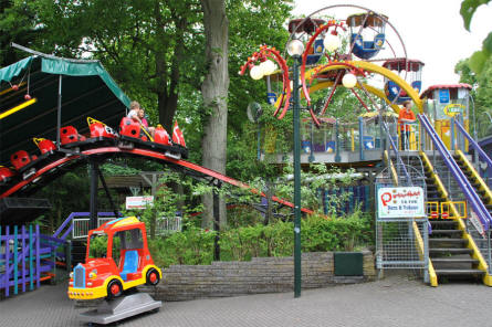 Some of the amusements for the younger kids at Bakken Amusement Park - Copenhagen.