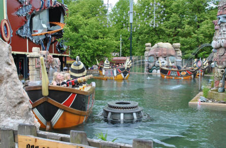A very popular water attraction at Bakken Amusement Park - Copenhagen.