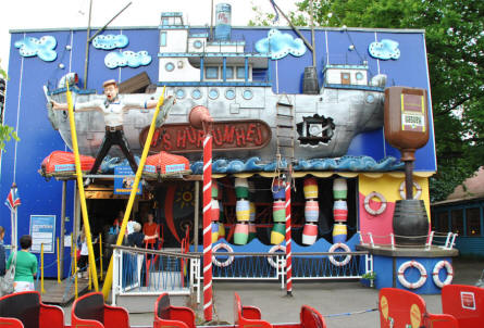 "The ""Crazy house"" at Bakken Amusement Park - Copenhagen."