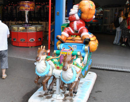One of the attractions with electronic games for all ages at Bakken Amusement Park - Copenhagen.
