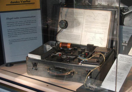 Radio use by the Danish resistance groups during World War II.