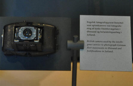 A British World War II spy camera can be seen at the Museum of Danish Resistance in Copenhagen.