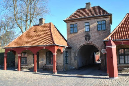 "The gate at the ""back entrance"" to the Kastellet (The Citadel) in Copenhagen."
