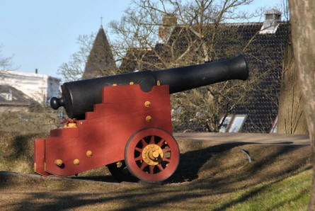 A vintage canons at the rampart of the Kastellet (The Citadel) in Copenhagen.