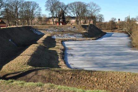 A part of the rampart at the Kastellet (The Citadel) in Copenhagen.