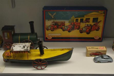 Some of the many classic toys displayed as a part of the toys collection at the main branch of the Danish National Museum.