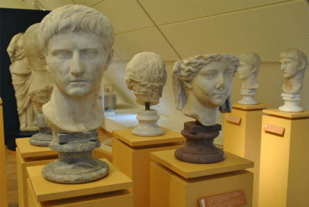 These classic busts are a part of the ancient European collection at the main branch of the Danish National Museum.