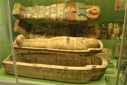 A small part of the ancient Egyptian collection at the main branch of the Danish National Museum.