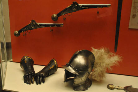 Some of the Middle Age weapons and armour displayed at the main branch of the Danish National Museum.