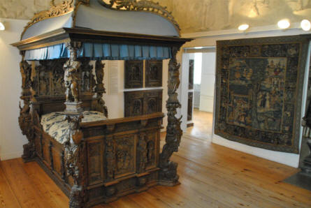 Some of the historical furniture displayed at the main branch of the Danish National Museum.