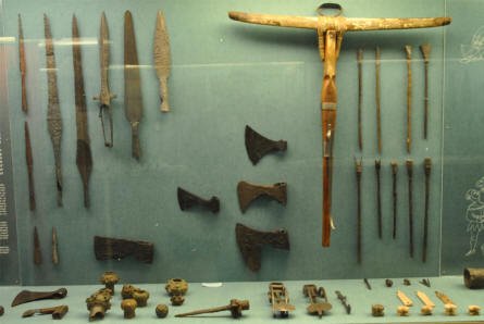Some of the many ancient and historical weapons displayed at the main branch of the Danish National Museum.
