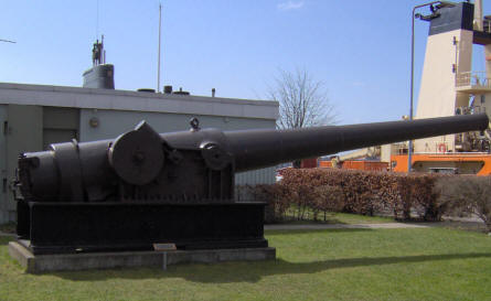 "An old naval canon displayed at the old Danish Naval Base ""Holmen"" in Copenhagen."