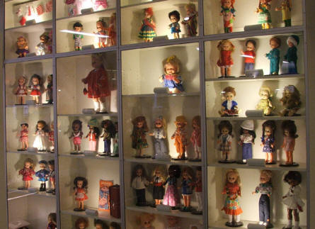 A part of the doll collection at Egeskov Castle.