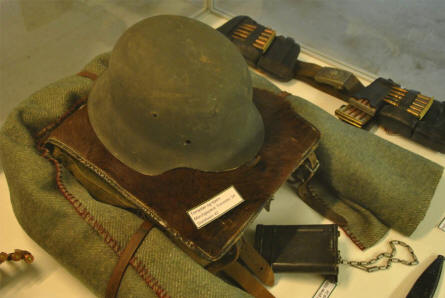 Some of the German World War II items displayed at the Aarhus Occupation Museum.