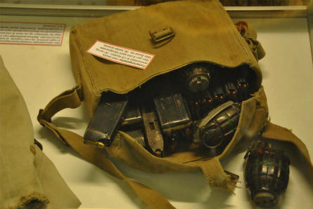 Some of the Allied World War II items displayed at the Aarhus Occupation Museum.