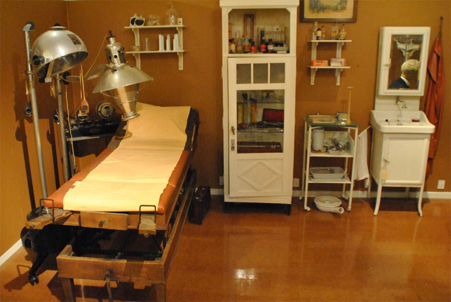 A Vintage Doctors Clinic Displayed As Part Of The Medical Collection At Steno Museum