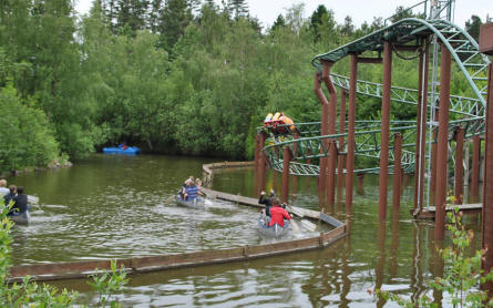 Paddle a canoe or ride one of the roller coasters at Djurs Sommerland.