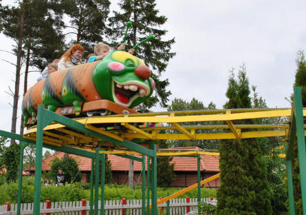 "The ""Caterpillar"" is a roller coaster for the younger children at Djurs Sommerland."