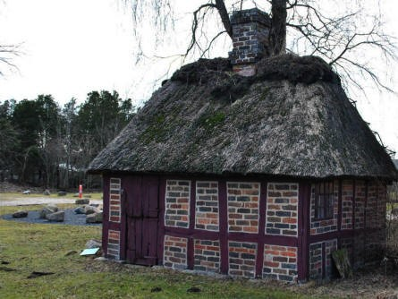 One of the smaller building displayed at the Herning Museum.