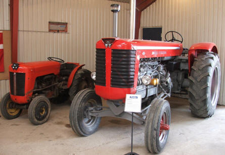 Old Ferguson tractors come in many sizes at the Danish Ferguson Museum in Glud.