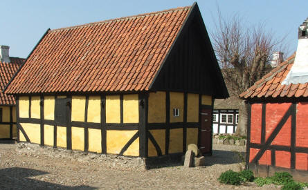 A typical house at Glud Open-air Museum.