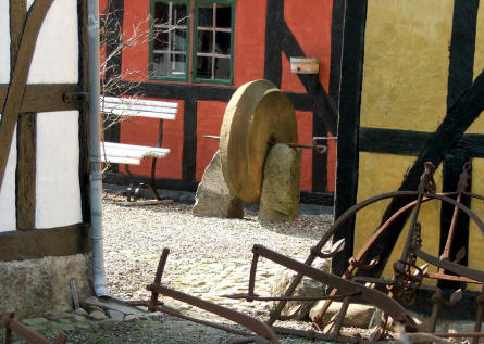 Old tools at Glud Open-air Museum.